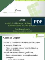 APOO Aula1.3 HerancaSobreposicaoPolimorfismoConstrutores