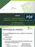 APOO Aula1.4 SobrecargaMetodosAtributosEstaticos