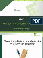 APOO Aula1.7 IntroducaoAPOO