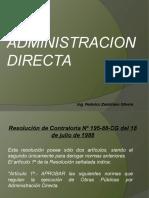 Recep y Liq Administracion Directa