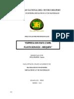 Informe de Practicas Empresa Minera Don Rafo II Caraveli Arequipa