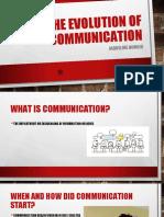 evolution of communication pptx