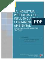 Industria Pesquera y Su Influencia en La Contaminación Ambiental