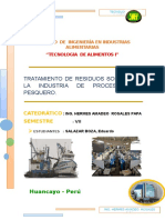 Tratamiento de Residuos Solidos en La Industria de Procesamiento Pesquero.