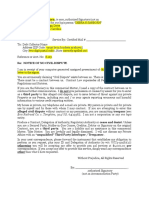 Debt Collector - Sample Response Notice to Dunning Letter (1!5!14)