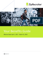 2017 ZipRecruiter Benefits Brochure