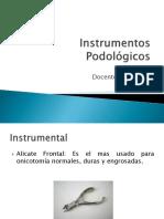 Instrumentos podologicos