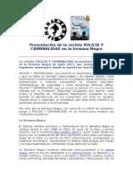 Semana Negra 2017. Presentación Revista Policía y Criminalidad 27.