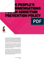 Young People's Recommendations for an Addiction Prevention Policy