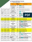 Boulder Reservoir 2018 Event Calendar