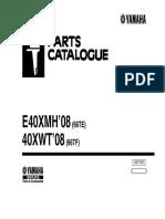 Manual de Partes Motores Yamaha e40xmh Serie 66te- 40xwt Serie 66tf