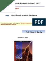 Lista Número 2 Vetores Fisica Geral I.pdf