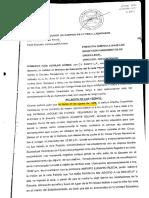 Las cuatro primeras páginas de la querella del Ministro Aguilar