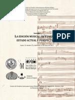 LA EDICIÓN MUSICAL EN VENEZUELA