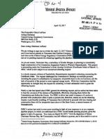 Letter From Massachusetts Senators Elizabeth Warren and Ed Markey to FERC