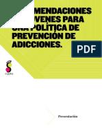 Recomendaciones de Jóvenes para una Política de Prevención de Adicciones