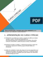 CRONOGRAMA - CURSO CYPECAD