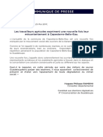 Communiqué de Presse - Hugues dit Philippe Ramdini le 23 mai 2017