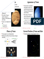 Venus Appearance and Phases
