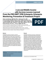 Preeclampsia in Low and Middle Income Countries—Health Services Lessons Learned From the PRE-EMPT (PRE-Eclampsia–Eclampsia Monitoring, Prevention & Treatment) Project