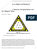 """Using the Wealth Talisman Charging Station and the """"Magnet"""" Ritual – Frater S- Musings on Magic and Mysticism"""
