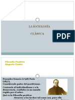 Representantes Dela Sociología Clasica