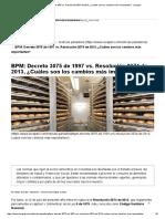 BPM_ Decreto 3075 de 1997 Vs