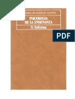 Psicología de La Enseñanza. Talízina