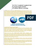 Model Pembelajaran Problem Based Learning Dalam Kurikulum 2013