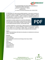 Estudio de Evaluación de La Efectividad Biológica de PUREX BIOSANITIZER