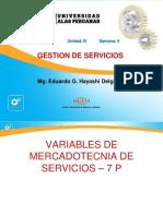 Semana 6 - Mezcla de Mercadotecnia de Servicios