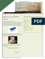 Diferencia Entre WWW e Internet
