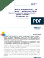 2008 05 18 Informe Transporte Interprovincial Diciembre 2007