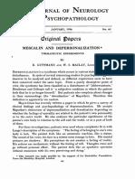 Guttmann Maclay Mescalin and Depersonalization