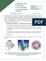 Le Modele en Elements Finis Du Produit Dans Son Environnement Adaptation de La Geometrie