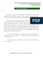 PDF Agente Administrativo Nocoes de Administracao Financeira e Orcamentaria Aula 00