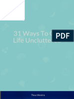 31 Ways to Get Life Uncluttered