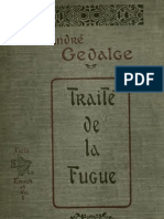 Gédalge, Traité de la Fugue