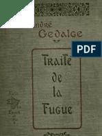 Gédalge, Traité de la Fugue
