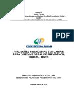 Anexo IV.5 2013 Projecoes Atuariais Para o Regime Geral de Previdencia Social 2013 RGPS