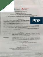 Decreto de la Gobernacion del Atlántico en honor a Jimmy Barceló