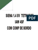Siena 1.4 8v Tetrafuel Iaw4sf Com Comp Bordo