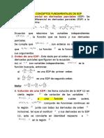 Algunos Conceptos Fundamentales de Edp Mate