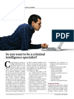 So You Want to Be a Criminal Intelligence Specialist