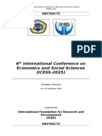 6th International Conference on Economics and Social Sciences Abstract Final