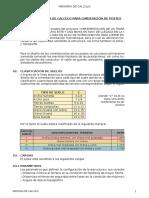 CALCULO DE CIMENTACION DE POSTES