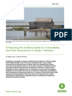 Enhancing the Evidence Base for Vulnerability and Risk Assessment in Badin, Pakistan