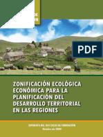 Documento Base CF XIII Zonificación Ecológica y Económica Para La Planificación Del Desarrollo Territorial en Las Regiones