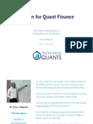 Python for Finance pdf | Python (Programming Language) | Web