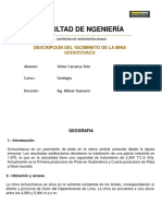 descripción de  mina uchucchacua